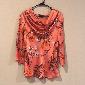 Pink Floral Silk Shirt